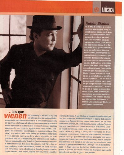 Ruben Blades Clipping Magazine photo orig 8x10 1pg F10344