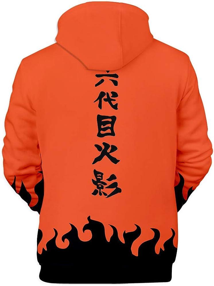 HOSD Sudaderas con Capucha Naruto Yondaime Hokage 3D Hombres ...