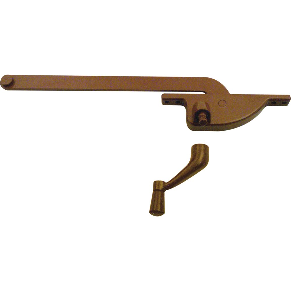 Right Hand Bronze Prime-Line Products 1762-LB-6 Casement Operator with 6-Inch Teardrop Type
