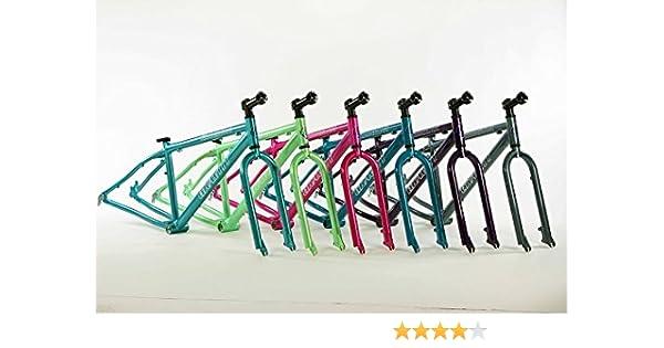 Amazon.com : Gravity Knockout Aluminum Fat Bike Frame Fork Set ...