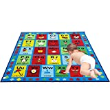JACKSON Large5'0 x6'6 Collection ABC Fun Kids Rugs, Numbers and Shapes Educational Classroom Rug For Playroom,Classroom and Kidroom,Safety and Fun Alphabet Rug Learning Carpet for Boys and Girls