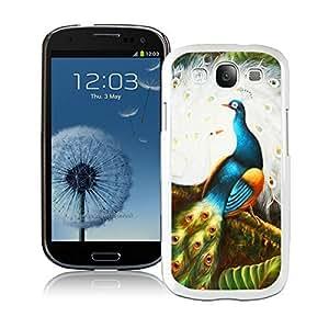 BINGO Funny Peacock Samsung Galaxy S3 i9300 Case White Cover