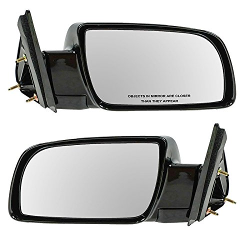- Manual Black Side Mirrors Left LH & Right RH Pair Set of 2 for Pickup Truck