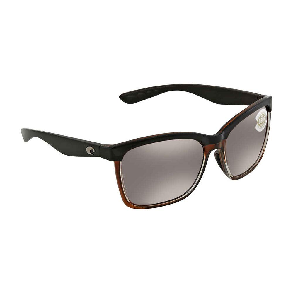 ccb38c5e74 Amazon.com  Costa Del Mar Anaa Sunglasses Shiny Black on Brown Blue Mirror  580Plastic  Shoes