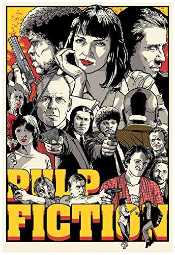 Pulp Fiction Movie Poster 24 x 36 Inches Full Sized Print Unframed Ready for Display Alternate Fan Art