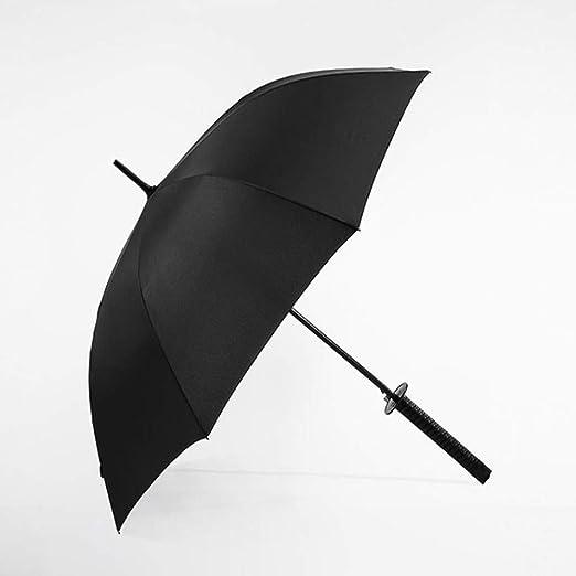 LUOJIN Paraguas Negro Japonés Japonés Ninja Mango Largo ...