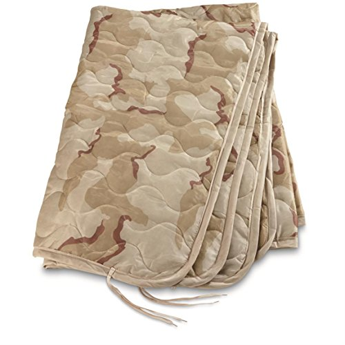 Military Style Poncho Liner Blanket - Woobie (Desert Camo DCU) (Military Desert Camo)