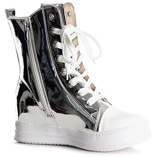 Argent Baskets De Sport Femmes Chaussures Topschuhe24 Coin IqYPP