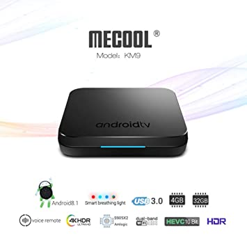 b1c4f5ef41d7 ETbotu KM9 Voice Control Android 8.1 Amlogic S905X2 Quad Core TV Box 4G +  32G Wifi