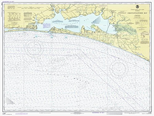 Map | Choctawhatchee Bay And Approaches, 1979 Nautical NOAA Chart | Florida (FL) | Vintage Wall Art | 59in x 44in