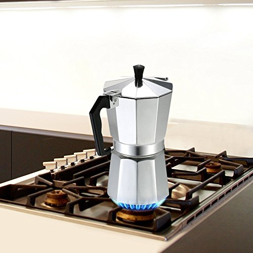 Decdeal 3-12 Cup Stovetop Espresso Maker Aluminum Coffee Stovetop Maker Mocha Pot for Use on Gas or Electric Stove by Decdeal (Image #2)