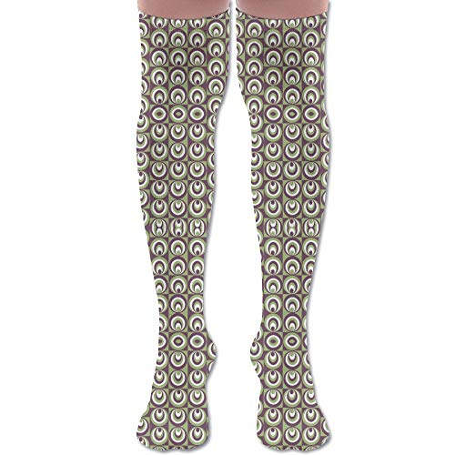 DFAUHAL Deco Domino Fabric (4772) Knee High Graduated Compression Socks for Unisex - Best Medical, Nursing, Travel & Flight Socks - Running & Fitness - Domino Outdoor Fabric
