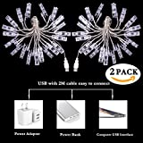2 Pack Photo Clips String Lights, GIGALUMI 20ft 20 LED Indoor Fairy String Lights for Hanging Photos Pictures Cards and Memos, Ideal gift for Bedroom Decoration (USB Powered, Warm White)
