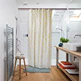 Shower Curtain Vs Shower Liner Vantage Decor Shower Curtain Liner Mildew Resistant Waterproof Bathroom Curtains 84 X 54 inches with 8 Hooks Free Yellow Rose Print