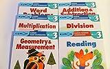 Kumon Grade 3 Set: Math Workbooks + Reading (6 Books)