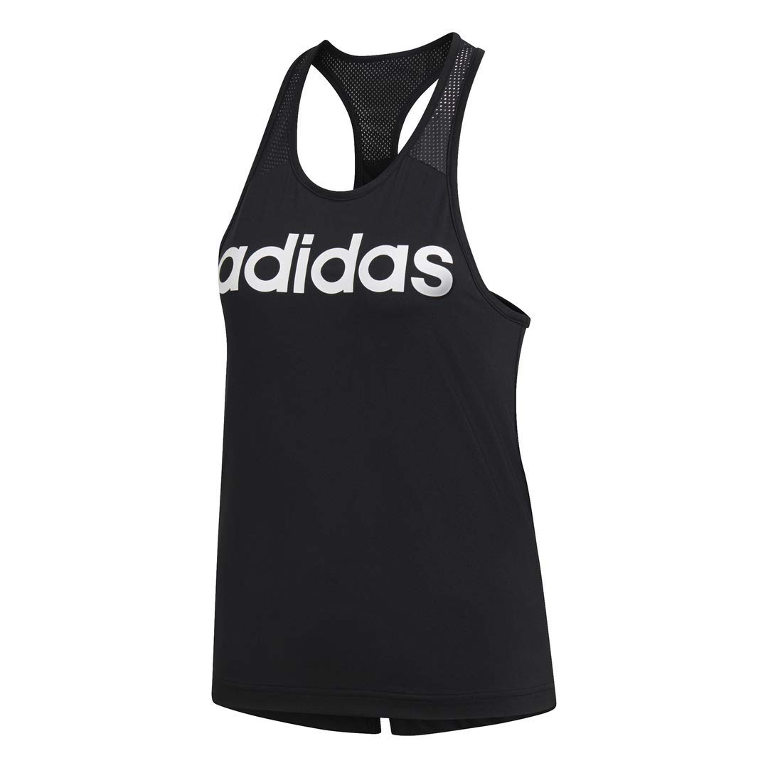 adidas Women's Design 2 Move Logo Training Tank Top, Black, Small by adidas