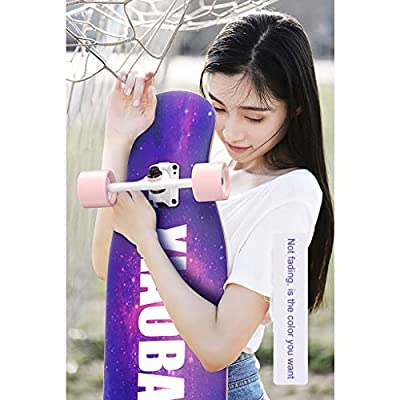 OFFA Longboards Skateboard Cruiser, Skateboards Complete for Beginners, 42x10 Inch Skateboard 9 Layer Maple Double Kick Deck Concave Skateboard, for Men Girls Teens Adults Extreme Sports and Outdoors: Home & Kitchen