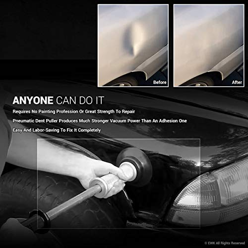 EWK Pneumatic Slide Hammer Dent Puller Air Suction Cup Paintless Dent Repair Remover by EWK (Image #1)