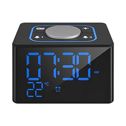 HLMF Radio Reloj Despertador, Digital LED Despertador, Reloj de Escritorio para niños