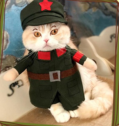 PvxgIo Ropa para Mascotas Funny Military Traffic Policeman Cat Clothes Size 3