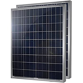 2 Pieces of HQST 100 Watt 12 Volt Polycrystalline Solar Panel