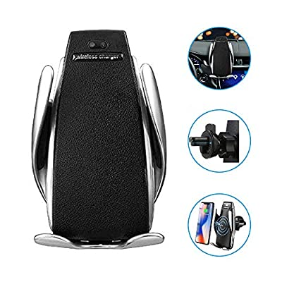 TopWan Automatic Smart Sensor Wireless Car Charger, Air Vent Automatic Clamping Wireless Car Charger Mount Holder, 10W Fast Charging Compatible for iPhone 11 Xs Max/XR/X/8/8Plus Samsung S9/S8/Note 8: Electronics