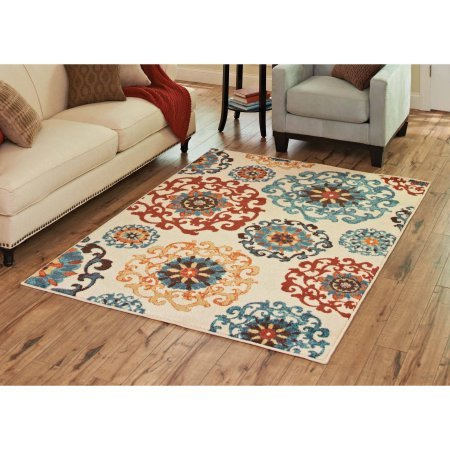 """Better Homes and Gardens Suzani Cream Area Rug (2'6"""" x 3'9"""", cream) from Better Homes & Gardens"""