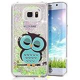 Galaxy S6 Edge Plus Case, Crazy Panda® Samsung Galaxy S6 Edge Plus 3D Creative Design Flowing Liquid Floating Bling Glitter Sparkle Star Crystal Clear Case Cover for S6 Edge plus - Cute Owl