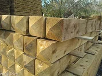 8ft 8 X 8 Large Heavy Duty Wooden Treated Gate Fence Posts Gate Posts