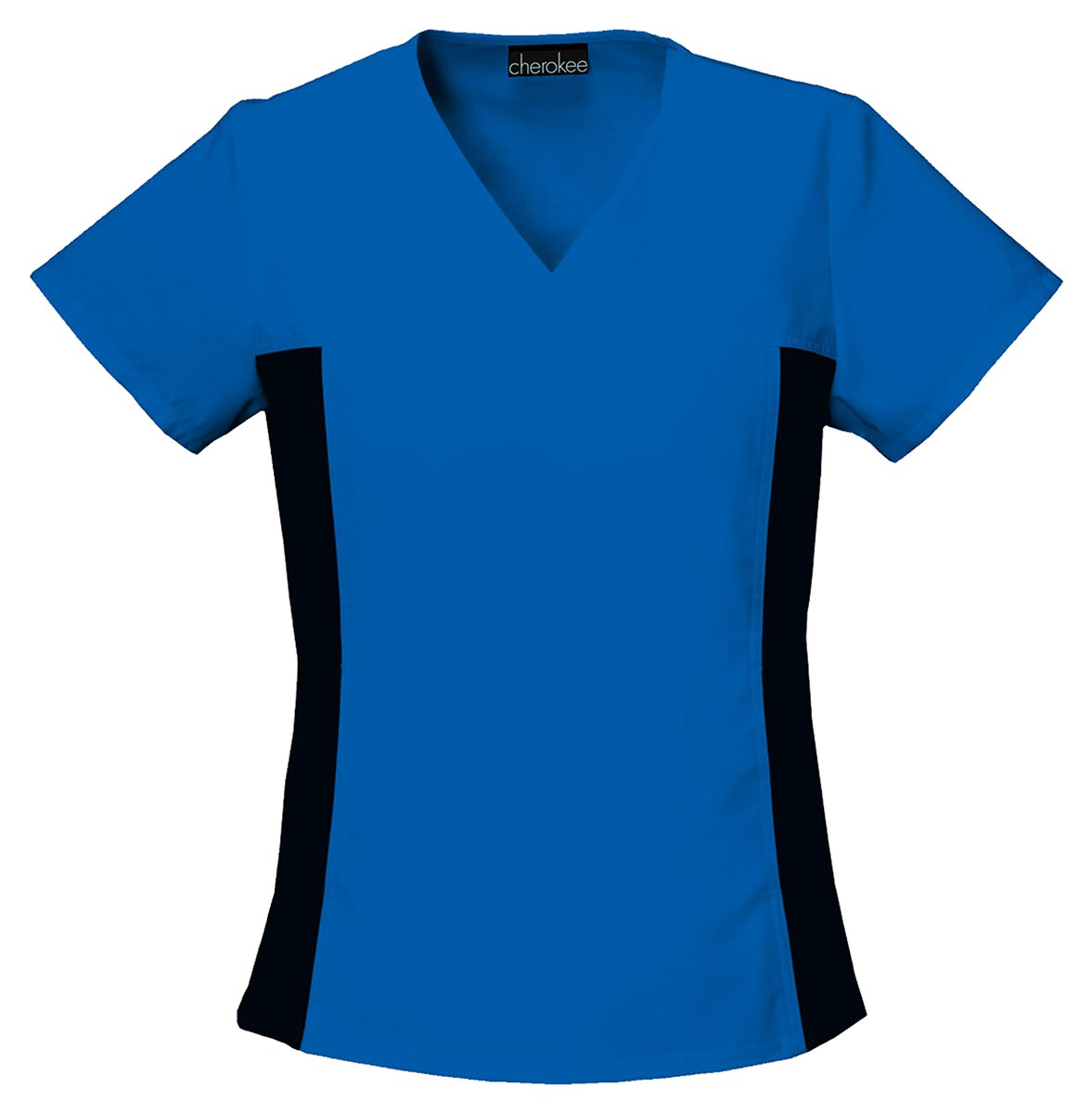 Cherokee Women's Contemporary V-Neck Knit Panel Top_Royal_X-Large,2874