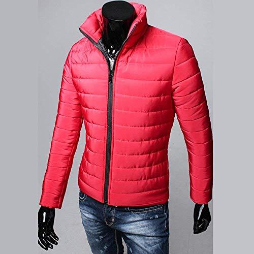 Nero Più Di Fit Inverno Down Maniche Clásico Laisla Di Boy Modo A Caldo Uomini Outwear Rot Slim Lunghe Cappotto Giacca Collare Supporto Formato Trapuntato q5F45tAn