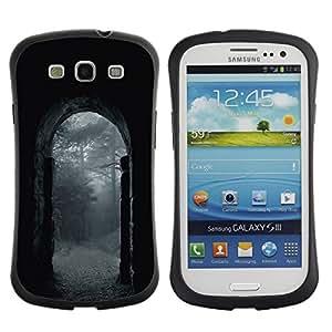 Suave TPU GEL Carcasa Funda Silicona Blando Estuche Caso de protección (para) Samsung Galaxy S3 I9300 / CECELL Phone case / / Night Rain Grey Gate Nature /