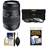 Tamron 70-300mm f/4-5.6 Di LD Macro 1:2 Zoom Lens with 3 UV/CPL/ND8 Filters + Accessory Kit for Sony Alpha DSLR SLT-A37, A57, A58, A65, A77, A99 Digital SLR Cameras