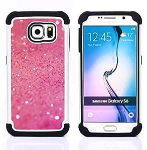 BullDog Case - FOR/Samsung Galaxy S6 G9200 / - / Pink Glitter Shine /- H??brido Heavy Duty caja del tel??fono protector din??mico - silicona suave