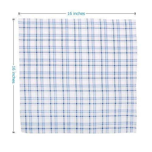 Neatpal 100% Cotton Men's Handkerchiefs Check Pattern Hankies by Neatpal (Image #4)