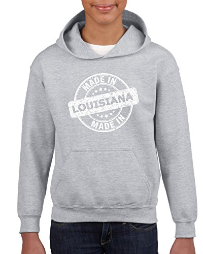 Made In LA Map New Orleans Flag Baton Rouge Home Of University Of Louisiana Youth Hoodies - In Rouge Shopping Baton