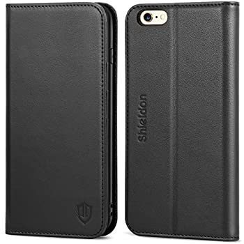 amazon com belemay iphone 6s case, iphone 6 case, genuine leatheriphone 6 plus case iphone 6 case, shieldon genuine leather wallet case folio flip book design w kickstand, credit card slots, magnetic closure compatible