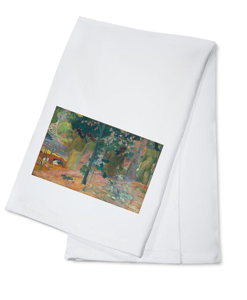 The Bathers – 傑作クラシック – アーティスト:ポールゴーギャンC。1897 Cotton Towel LANT-66112-TL B0184BSHCY  Cotton Towel