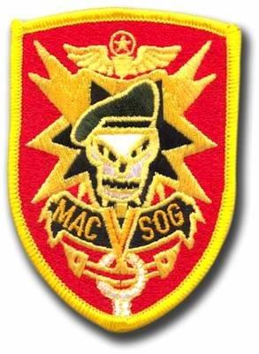Mac Sog Vietnam Skull Logo Embroidered Iron on Patch