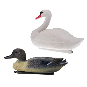 Homyl 2pcs Set Duck Drake Decoy Goose Swan Hunting Bait Ornaments
