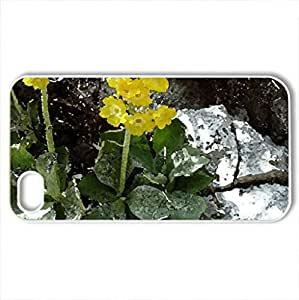 Alpenblume - Case Cover for iPhone 4 and 4s (Flowers Series, Watercolor style, White)