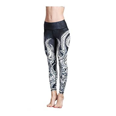 f96386fef69ac Image Unavailable. Image not available for. Color: Befullo Women's Yoga  Pants Capri Legging Workout Gym ...