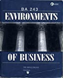 Environments of Business : Ba 243, Cochran, 0070143498