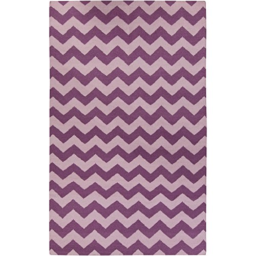 Surya Frontier FT-253 Flatweave Hand Woven 100% Wool Berry 9' x 13' Geometric Area Rug