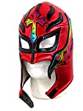 rey mysterio mask red - Leos Imports Rey Mysterio Lucha Libre Wrestling Mask (pro-fit) Costume Wear- Red Multi