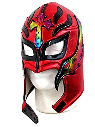 Leos Imports Rey Mysterio Lucha Libre Wrestling Mask (pro-fit) Costume Wear- Red Multi