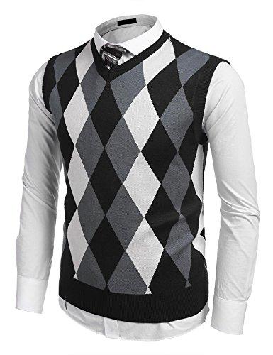 Cotton Argyle Sweater Vest - 3