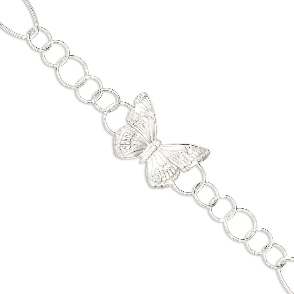 ICE CARATS 925 Sterling Silver Butterfly Bracelet 7.50 Inch Animal Fancy Fine Jewelry Ideal Gifts For Women Gift Set From Heart by ICE CARATS (Image #1)
