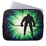 Neoprene Laptop Sleeve Eratio Cool Hockey Player 13 Inch MacBook Air Case MacBook Pro Sleeve and 13 Inch Laptop Bag