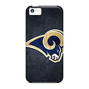 Durable Hard Cell-phone Cases For Apple Iphone 5c (TJg14589IWet) Unique Design HD St. Louis Rams Image
